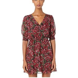 NWT The Kooples raspberry love fit and flare dress